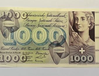 1000 Swiss Francs 1963
