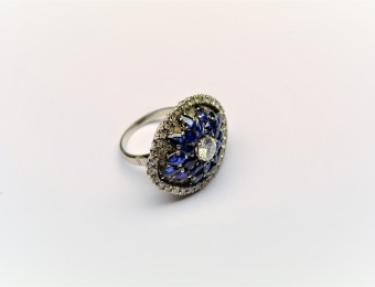Art Deco Sapphires Diamonds by Sanz