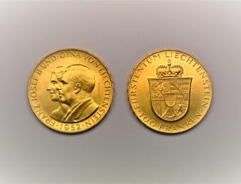 100 Franken 1952 Liechtenstein Franz Josef II