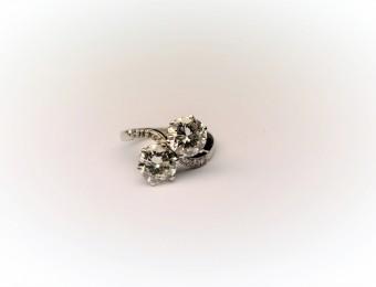Platinum Diamonds Art Deco Toi et Moi