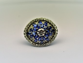Art Deco Sapphires Diamonds by Sanz