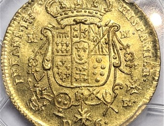 6 Ducats Carlos III de Borbón NAPLES and SICILY  1753