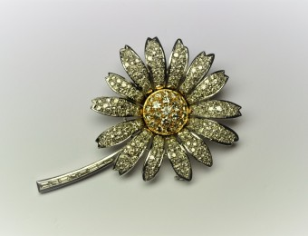 Diamonds Flower Brooch