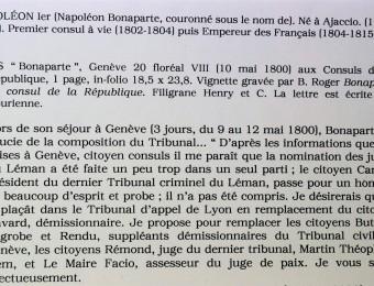 Napoléon Bonaparte  1 er Consul  Geneva 1800