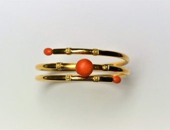 Antique Bracelet Pearls and Coral