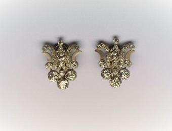 Earrings Old Mine Diamonds
