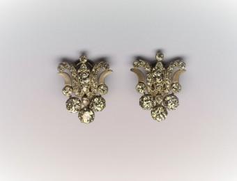 Earrings Old Mine Diamonds