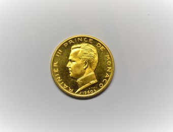 MONACO 5 Francs ESSAI Gold 1960