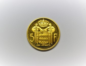 MONACO 5 Francs ESSAI Gold  500 pieces minted