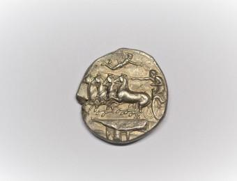 SICILY, Syracuse. Dionysios I. 405-367 BC.  Dekadrachm , by Euainetos